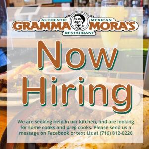 Gramma Mora's - Now Hiring